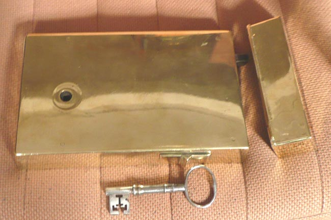 Georgian brass rim lock