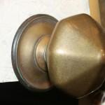 Brass centre knob