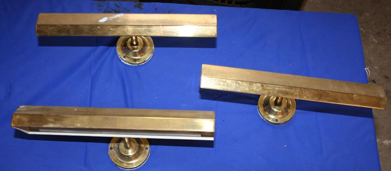 Brass picture lights