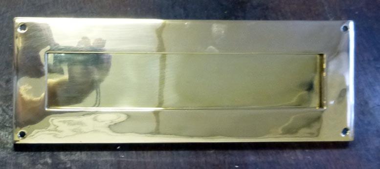 Large brass letter plate