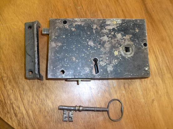 Steel rim lock