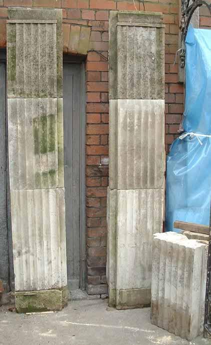 Pair Portland pilasters