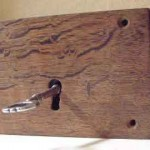 Oak rim lock with key