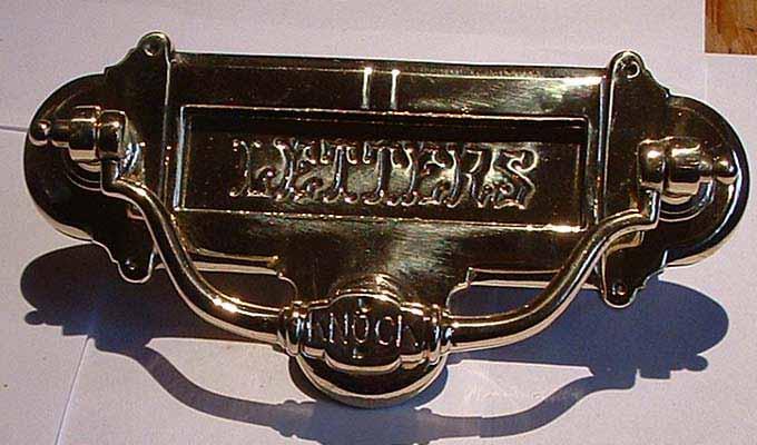 Brass letter plate/knocker