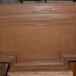 Pr teak door pediments
