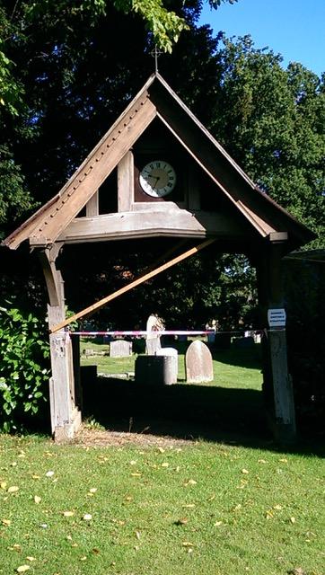 Beautiful oak framed lych gate