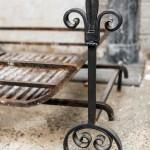 Large wrought iron dog basket