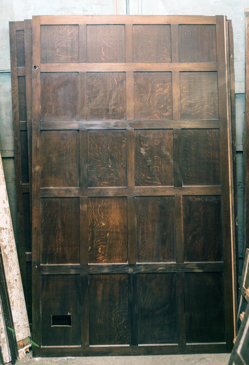 50 ft full height oak panelling