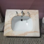 Marble topped basin