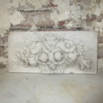 Carved marble plaque