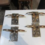 4 Pairs brass lever handles